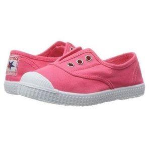 Cienta Coral Pink Kids Sneakers